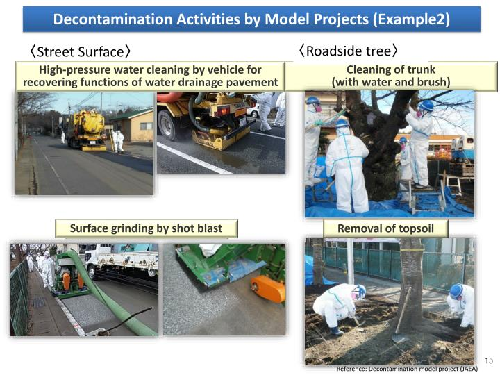 Decontamination Activities by Model Projects (Example2)