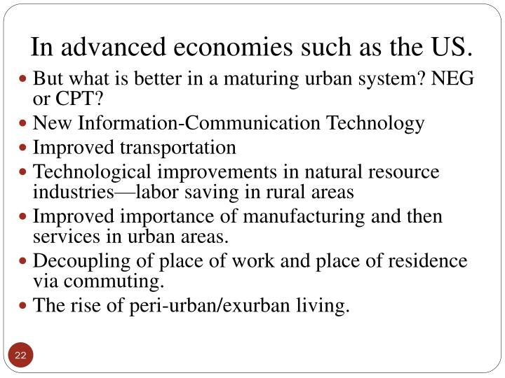 In advanced economies such as the US.