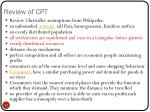 review of cpt