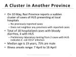 a cluster in another province