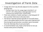 investigation of farm zeta