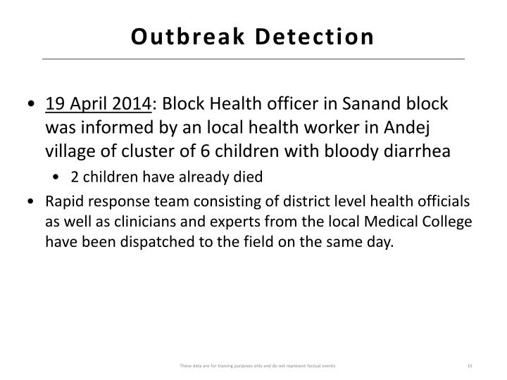Outbreak Detection