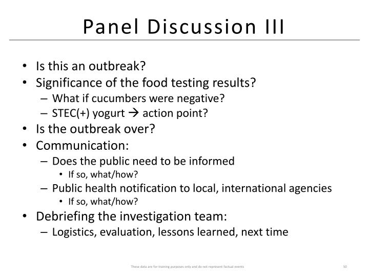 Panel Discussion III