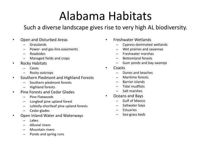 Alabama Habitats
