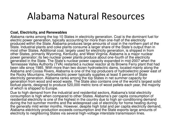 Alabama Natural Resources