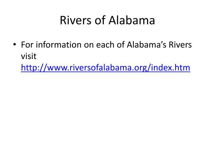 Rivers of Alabama