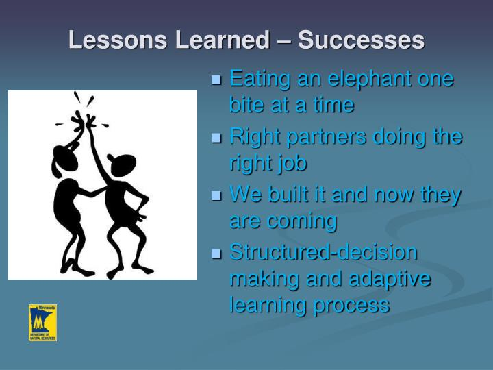 Lessons Learned – Successes