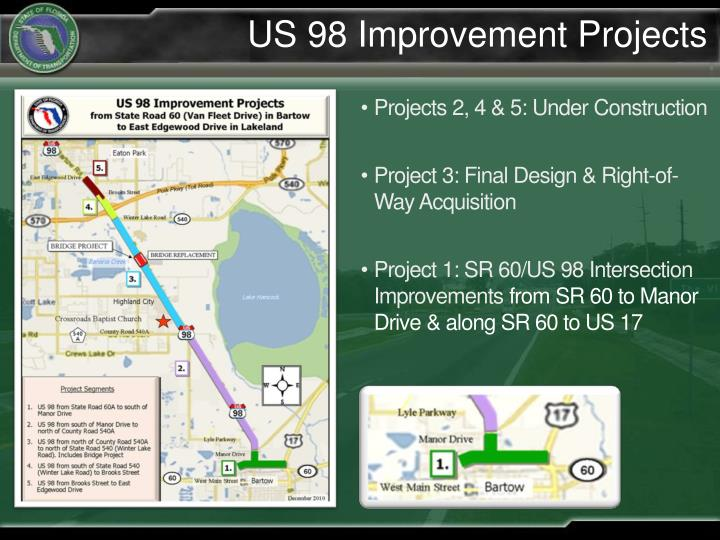 Us 98 improvement projects