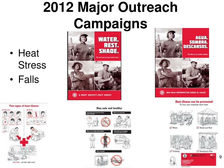 2012 Major Outreach Campaigns