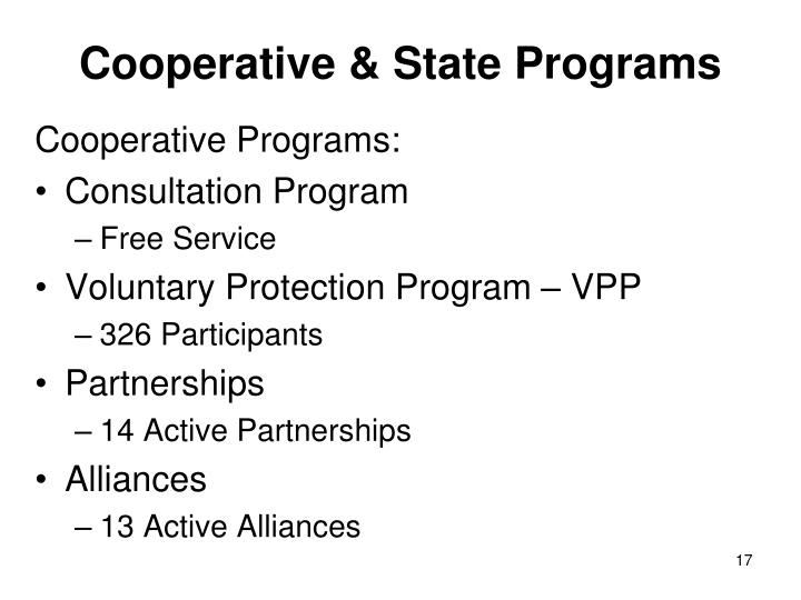Cooperative & State Programs