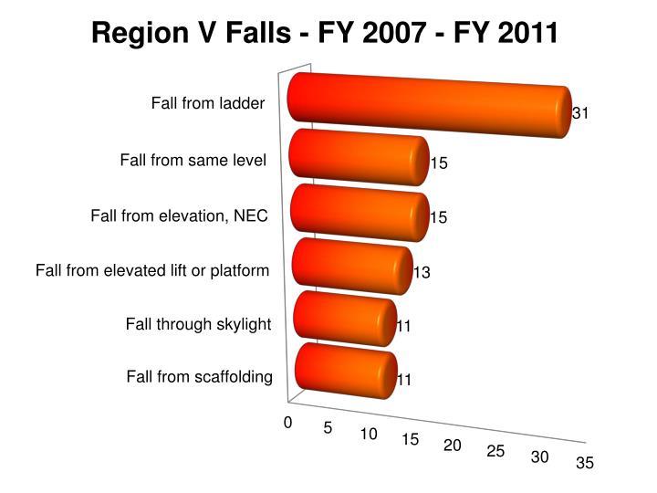 Region V Falls - FY 2007 - FY 2011