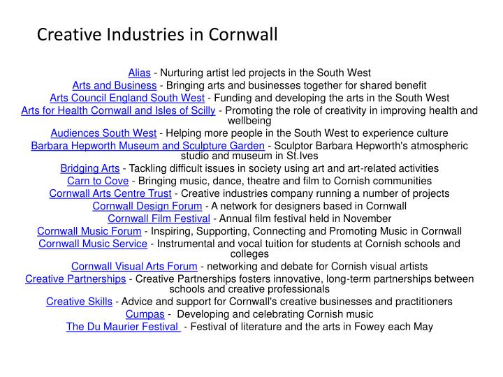 Creative Industries in Cornwall