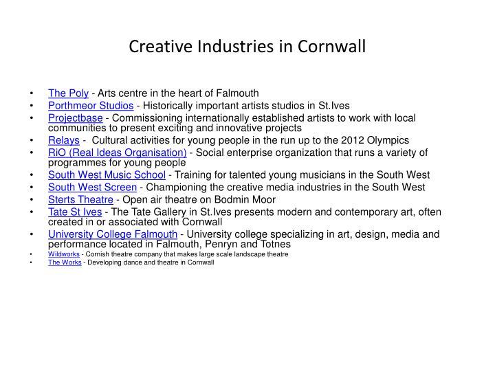 Creative Industries in Cornwall