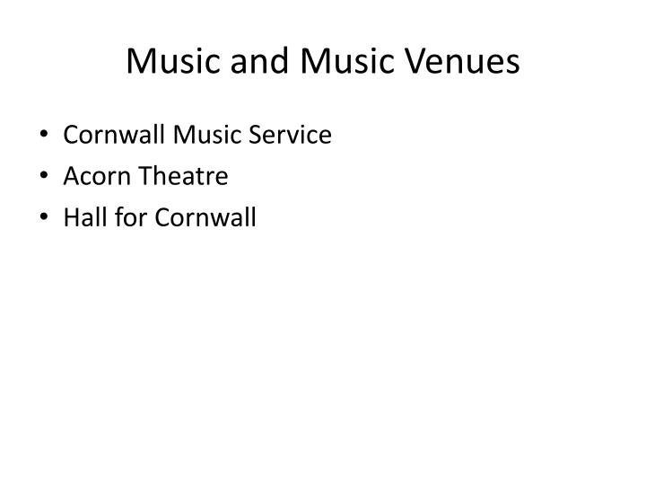 Music and Music Venues