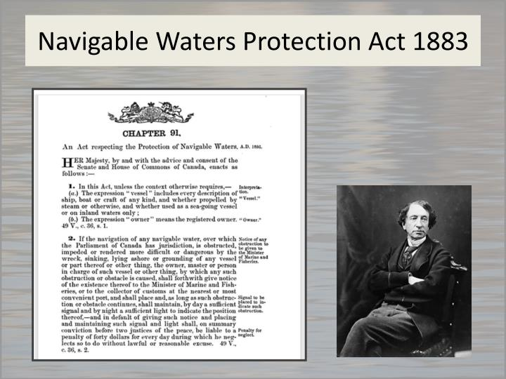 Navigable Waters Protection Act 1883