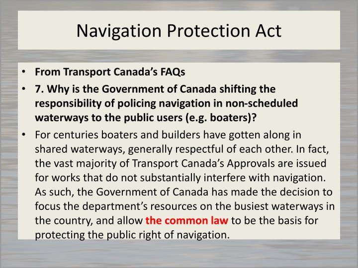Navigation Protection Act