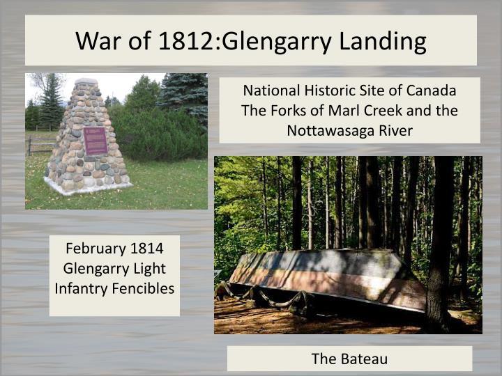 War of 1812:Glengarry Landing
