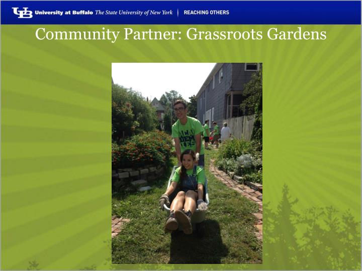 Community Partner: Grassroots Gardens