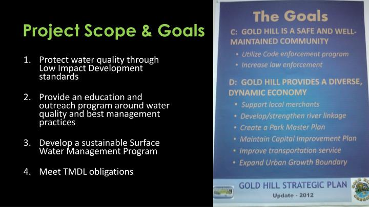 Project Scope & Goals