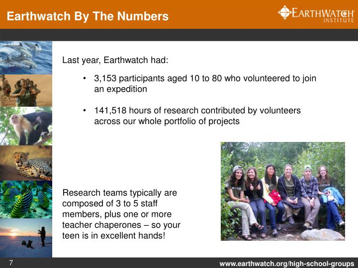 Earthwatch By The Numbers