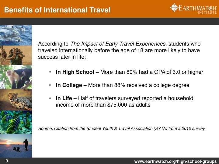 Benefits of International Travel