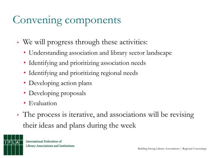 Convening components