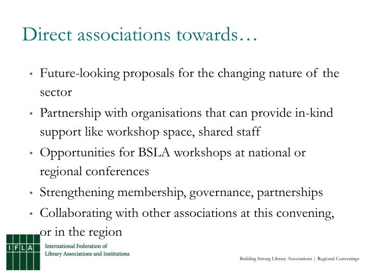 Direct associations towards…
