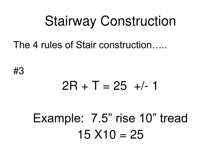 Stairway Construction