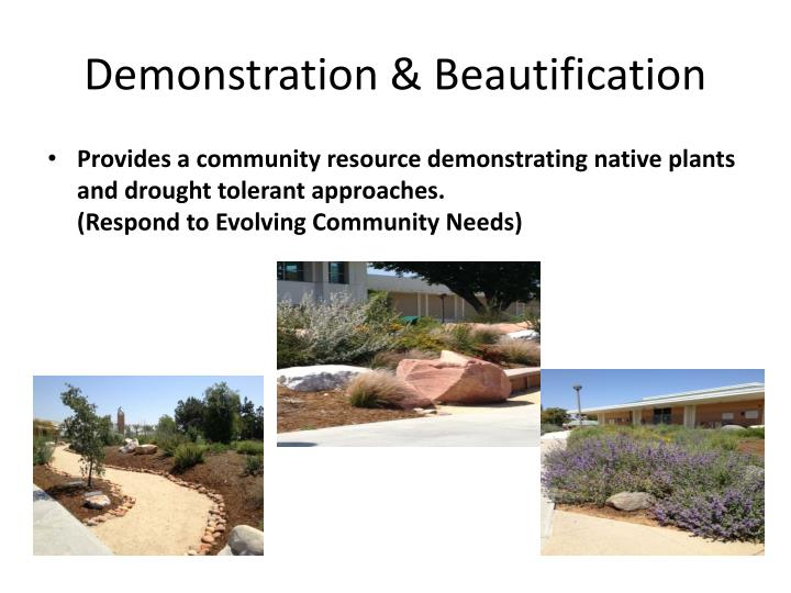 Demonstration & Beautification