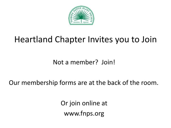Heartland Chapter Invites you to Join
