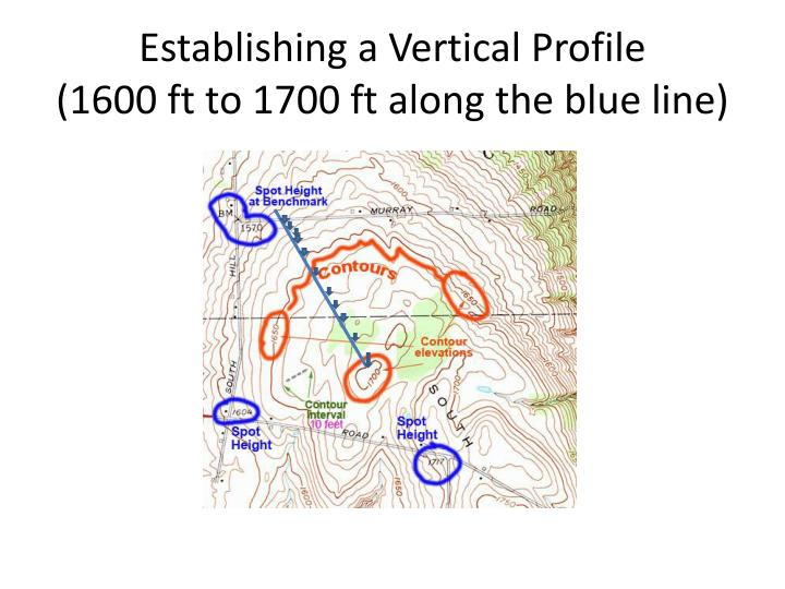 Establishing a Vertical Profile