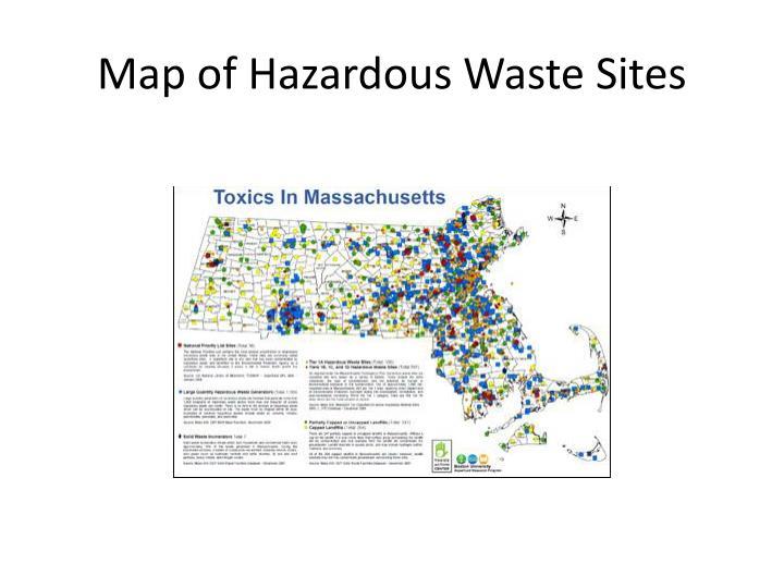 Map of Hazardous Waste Sites
