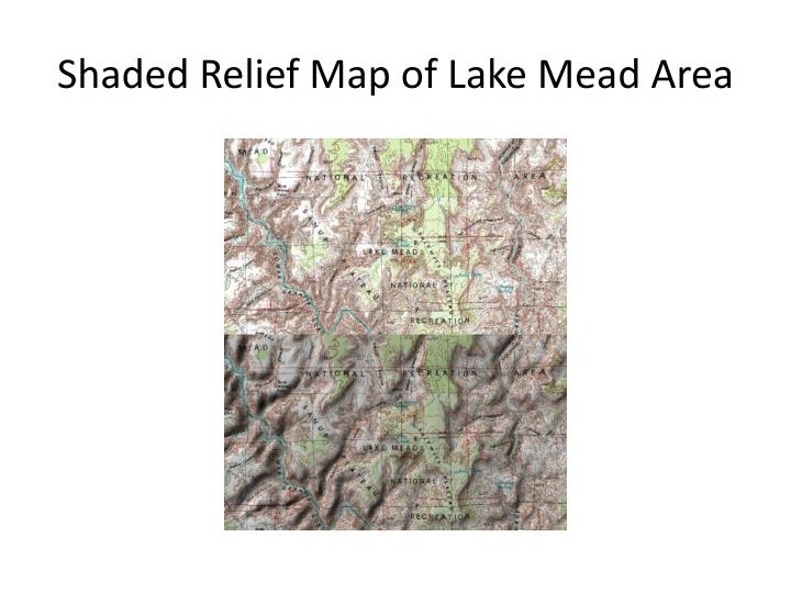 Shaded Relief Map of Lake Mead Area