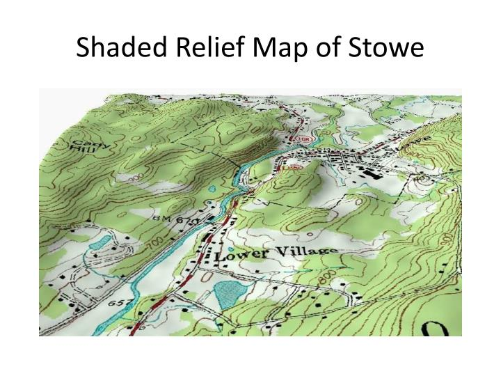 Shaded Relief Map of Stowe