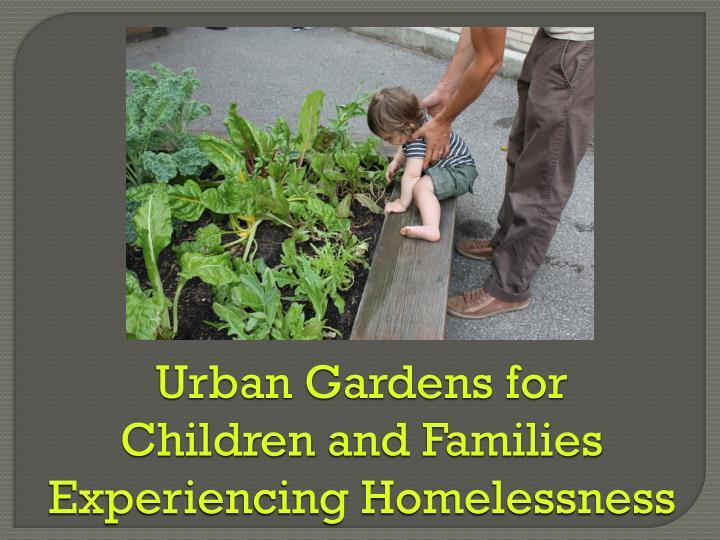 Urban Gardens for