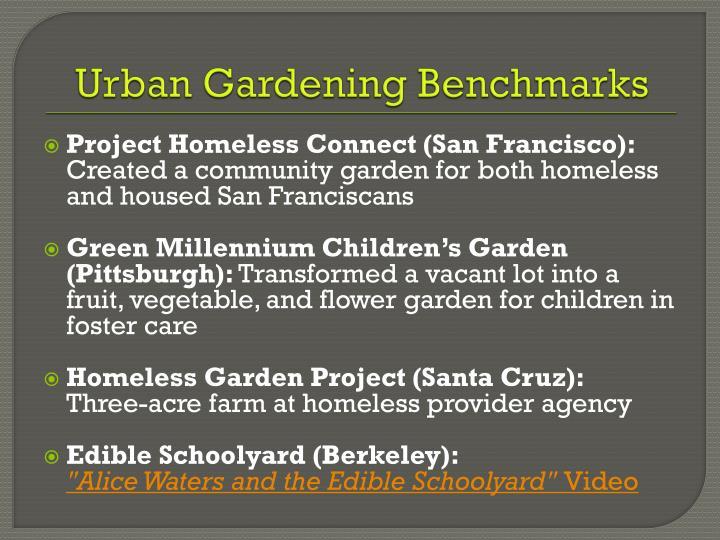 Urban Gardening Benchmarks