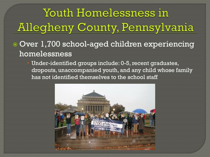 Youth Homelessness in Allegheny County, Pennsylvania