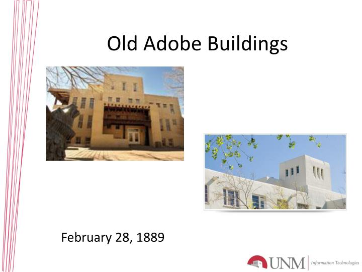 Old Adobe Buildings