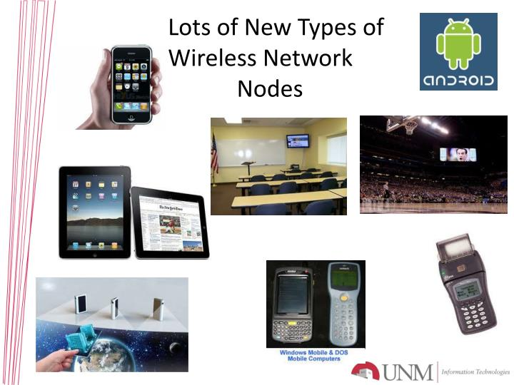 Lots of New Types of Wireless Network       Nodes