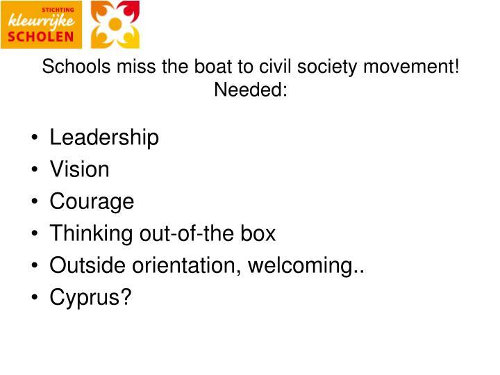 Schools miss the
