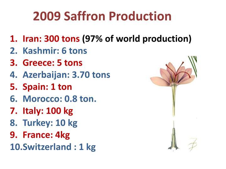 2009 Saffron Production