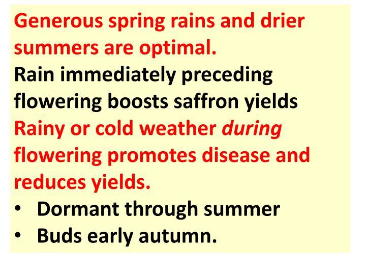 Generous spring rains