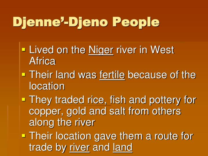 Djenne'-Djeno People