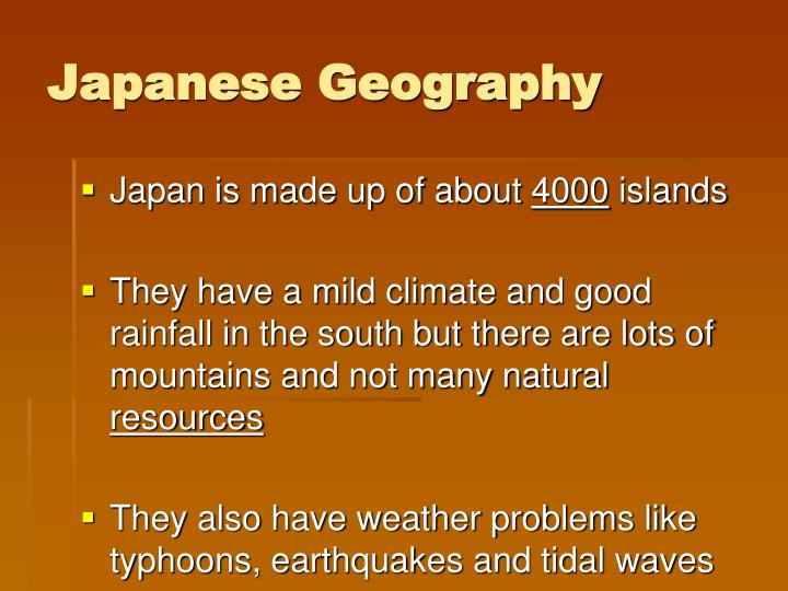 Japanese Geography