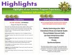 highlights of our summer program experience summer adventure 2013