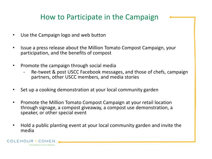 How to Participate in the Campaign