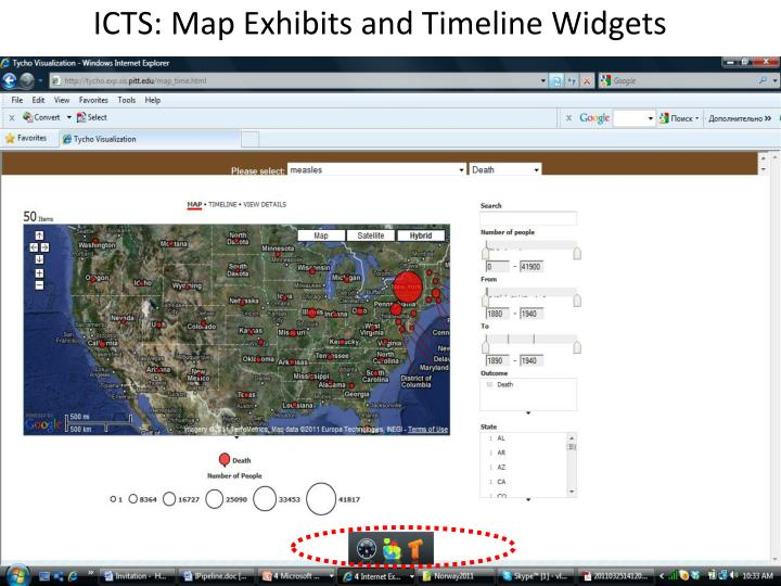 ICTS: Map Exhibits and Timeline Widgets