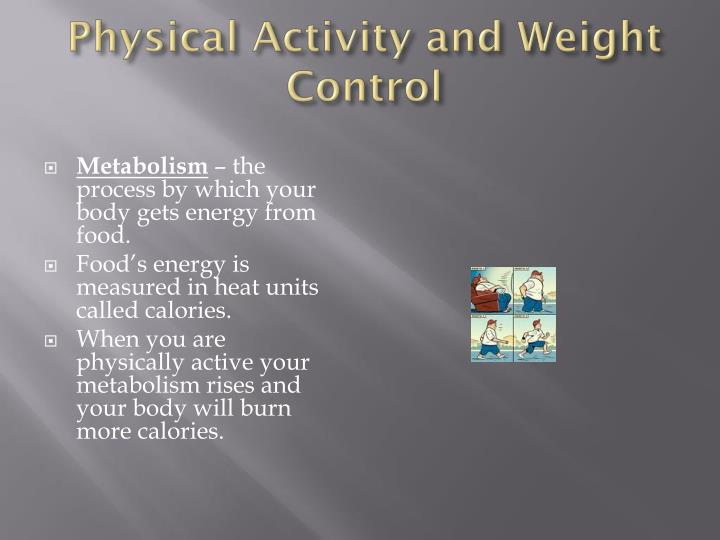 Physical Activity and Weight Control