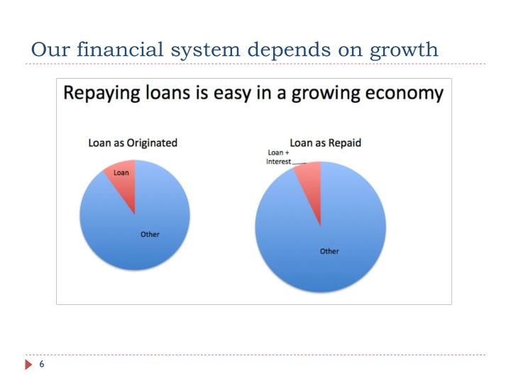 Our financial system depends on growth