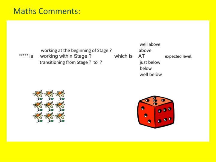 Maths Comments: